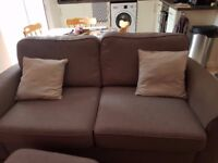 3 seater fabric sofa (Slate colour) only 7 months old with limited use!