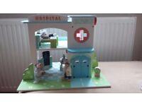 Le Toy Van Wooden Hospital play set