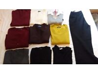 Lady's sweaters, cardigans and trousers