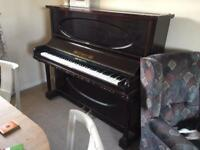 D'Amery overstrung iron frame upright grand piano