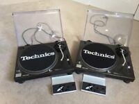 Technics 1210 Mk 2 Pair with Shure Stylus's