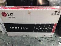 "LG 49UH620V 49"" ULTRA HD 4K Smart TV webOS HDR Pro Brand New"