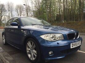 BMW 120i SPORT 5 DOOR ONLY 82K LONG MOT 6 SPEED FULL LEATHER XENONS 3 MONTHS RAC WARRANTY