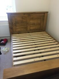 Double bed frame FOR SALE Only 1 year old Perfect condition (Still in Harvey Norman shops)