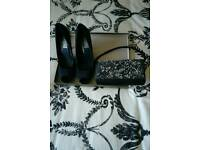 Ladies Shoes and Clutch Bag