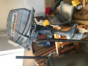 Five horse  Power boat motor  Evinrude