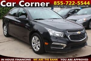 2015 Chevrolet Cruze LT/LOW KM WITH FACTORY WARRANTY/EFFICIENT!