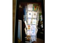 Greeting Card Stand. 5ft x 1ft 2ins Holds A6 + A5 + DL Greeting Cards. Must pick up.