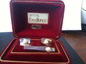 Imperial Excellent Cufflink and Tie Clip Set
