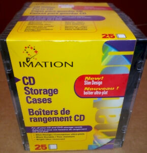****Slim Design CD Storage Cases- New Box of 25****