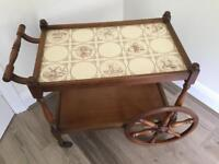 Antique style Hostess Trolley in medium wood colour