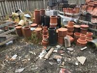 Various chimney pots and cowls