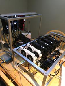 400 mh/s Ethereum Rig / Zcash / Litecoin    AMD Rx580 GTX1070