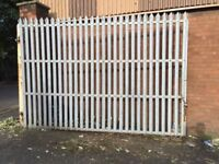 """2 Galvanised Metal Gates Each Gate Size Is 7ft 9"""" Down And 11ft 3"""" Long"""
