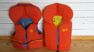 Two youth's life jackets for sale