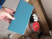 Powder blue flat metro style wall tiles - 100 x 200mm
