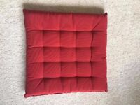 Outdoor Red seat cushions