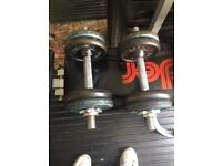 Set of dumbells £10 bargain 12 kgs