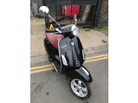 2015 Piaggio Vespa Primavera 125 ABS in Black great condition