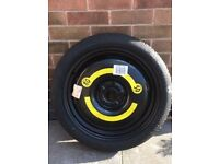 """Genuine Audi A3 18"""" SPARE SPACE SAVER WHEEL + TYRE SIZE T125 70 R18 99M"""