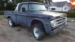 1970 dodge fargo power wagon 4x4 shortbox swb
