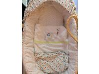Unisex Moses basket and stand £30 or best offer