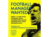 ** MENS FOOTBALL 11-A-SIDE TEAM NEEDING NEW MANAGER/COACH BRAMLEY BASED **