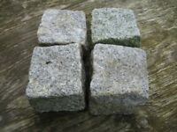 Granite Cobble Setts, Approx. 4 x 4 inch rough cut cube