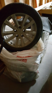 All season set of 4 Tires with Alloy Rims