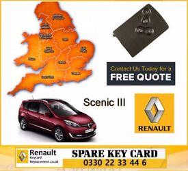 London High Wycombe Oxford Birmingham Cambridge Manchester Renault Megane Scenic Laguna key card