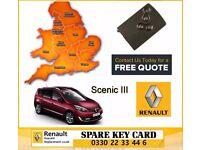 London Birmingham Manchester rochdale bolton leeds bury Renault Megane Scenic Laguna key card repair