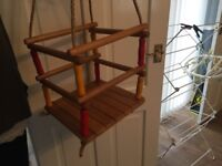 Sturdy wooden swing