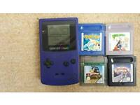 Excellent condition gameboy colour including 5 great games
