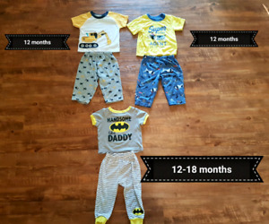 Boys pajamas 12 months to 18 months