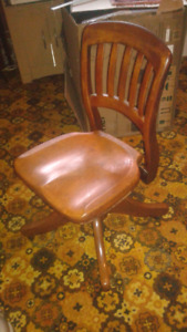 H.Krug Swivel Chair, desk, Antique Singer sewing machines