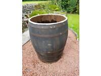 Whisky barrel hot tub