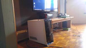 PC GAMER INTEL i7 (8 CPU) + VIDÉO GTX AVEC HDMI + WI-FI + JEUX