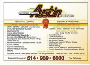 Post Reno/Clean Ups, Carpets-Windows-Walls 514-939-6000