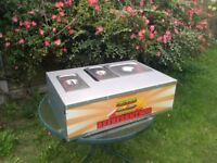 American hot dog gas portable device Fast food hamburger catering