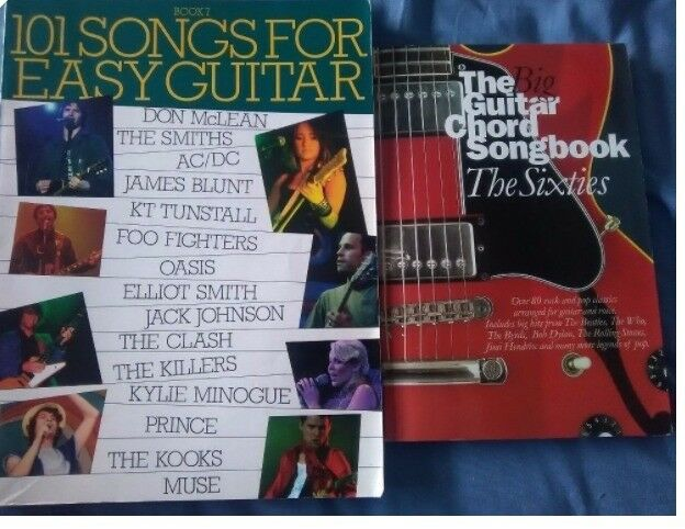 101 easy songs for guitar & the big 60s chord songbook sixties tabs ...