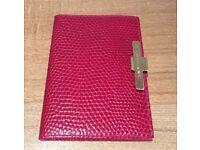 ORIGINAL SMYTHSON RED LEATHER PASSPORT HOLDER