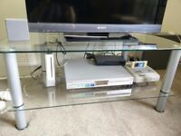 """TV Stand 37"""" - Clear Glass"""