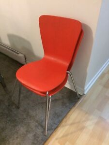 2 bright orange accent chair