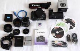 Canon 500D + 50mm f1.8 lens + Bag + Grip