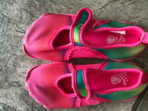 Pink swim shoes