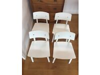 Ikea white kitchen/dining chairs 4.