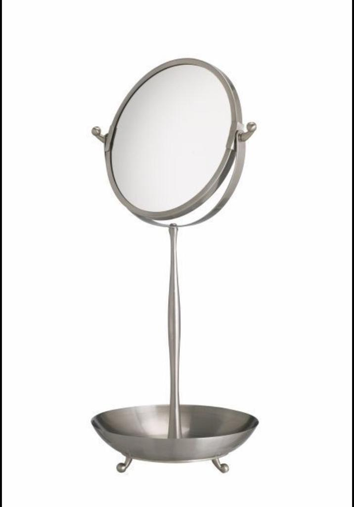 IKEA Lillholmen tabletop double-sided stainless steel magnifying mirror