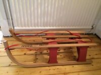 Hamax sledge. Used once. In great condition. Foldable for storage.