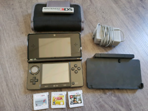 3ds with case and games