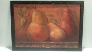 """Framed painting """"Pears"""""""
